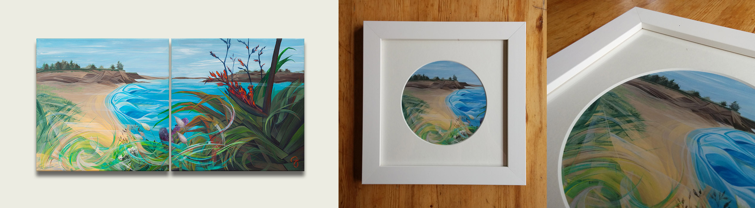 Framed Round Prints